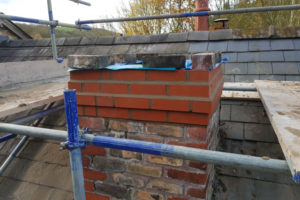 Chimney Repair With Scaffolding