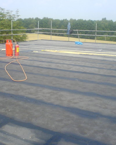 Flat roof - repair at Morton Hall School