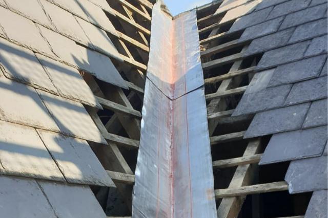 Slate Roof Valley Repair, Oswestry
